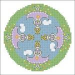 Borduurpatroon Prinsesjes cirkel FreeBee download