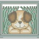 Borduurpatroon Spot voor het raam FreeBee download