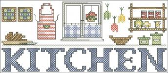 Borduurpatroon Kitchen FreeBee PDF download