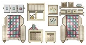 Borduurpatroon Ikea Meubeltjes FreeBee PDF download