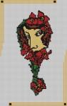 Borduurpatroon Art deco vrouw 2 FreeBee PDF download
