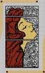 Borduurpatroon Art deco vrouw 3 FreeBee PDF download