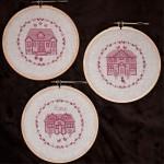 Borduurpatroon 3 Sweet Homes
