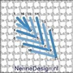 borduursteken diagonale bladsteek borduren