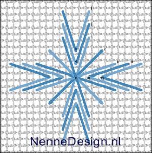 borduursteken eyelet star stitch borduren