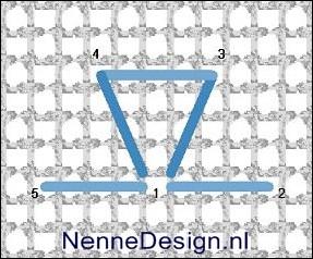 borduursteken three sided stitch borduren