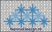 borduursteken verticale koninginnesteken voorbeeld