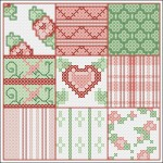 Borduurpatroon Patchwork 1 FreeBee download