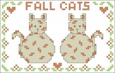 Borduurpatroon Fall Cats FreeBee download