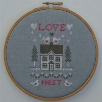 Borduurpatroon Love Nest