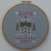 Borduurpatroon Love Nest