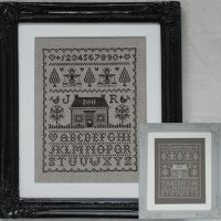Borduurpatroon Sampler White Picked Fences