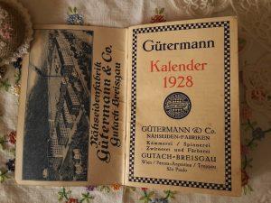 Gutermann kalender 1928