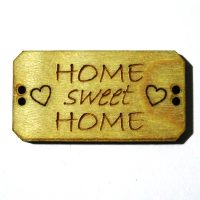 Knoop Bordje Home sweet home BLD014