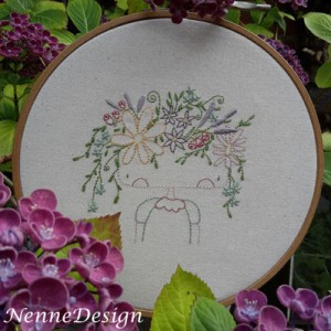 NenneDesign Stitchery Flower Girl PDF