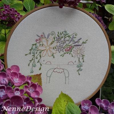 NenneDesign Stitchery Flower Girl PDF