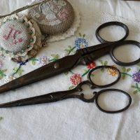 Oude schaartjes, decoratie, vintage schaartjes