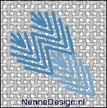 borduursteken diagonale bladsteken voorbeeld