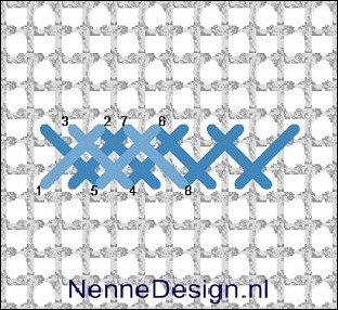 borduursteken dubbele flanelsteek borduren