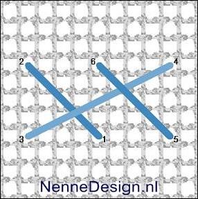 borduursteken gevlochten kruissteek borduren