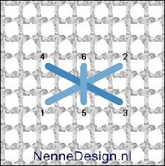borduursteken horizontale kruissteek met stiksteek borduren