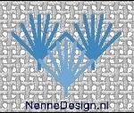 borduursteken schelpsteken voorbeeld